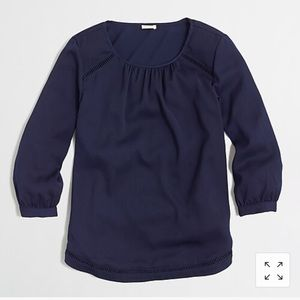 J. Crew 3/4 Sleeve Blouse with Cutout Details